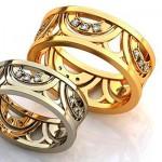 Двухцветные кольца